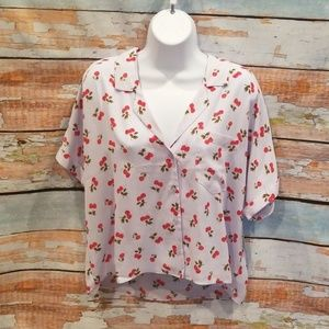 """NWT NEVER WORN Abound Blue """"Apple"""" Blouse Tee!"""